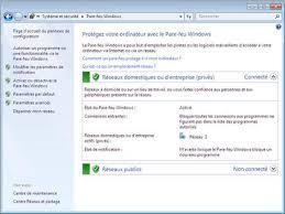 pare feu Windows 7